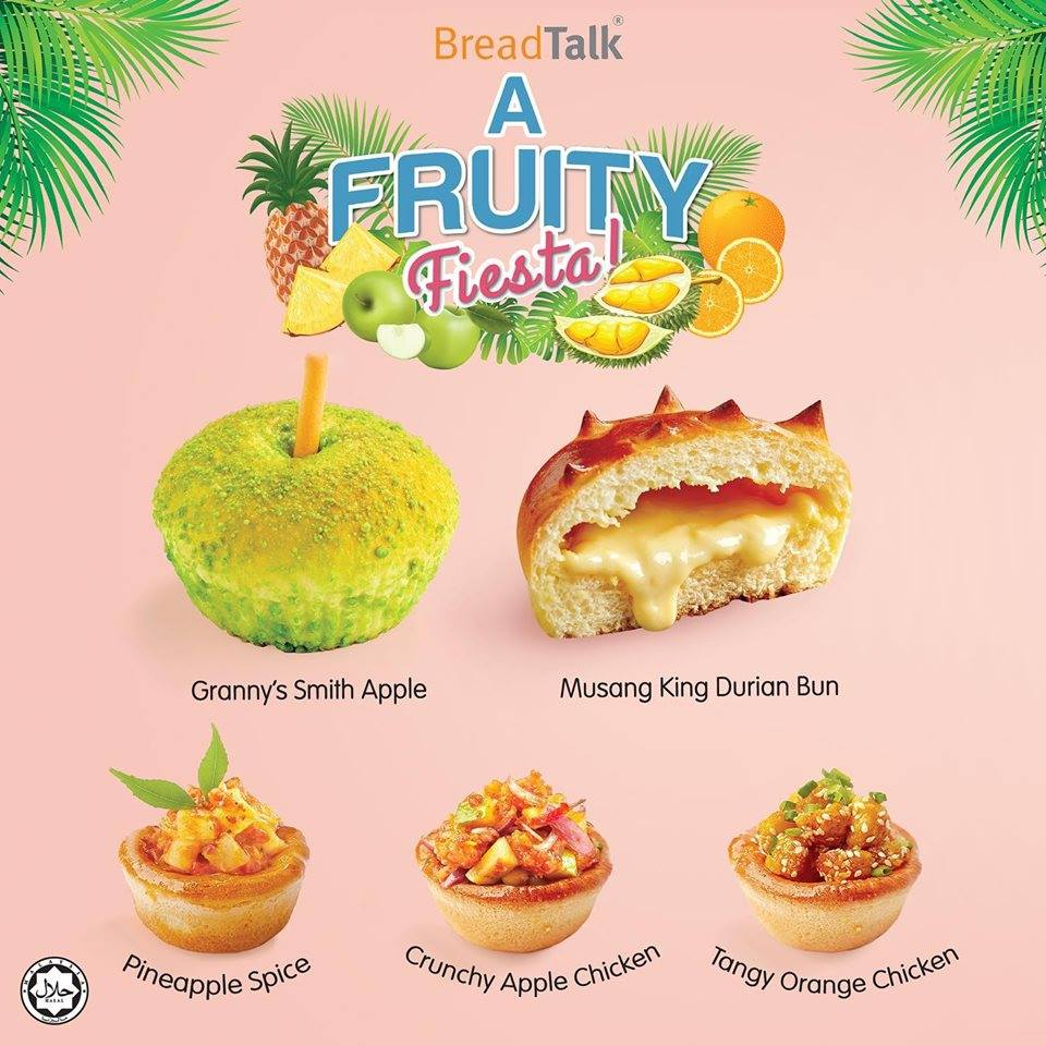 Indulge a Fruity Fiesta with the five new fruitful treats at BreadTalk today!