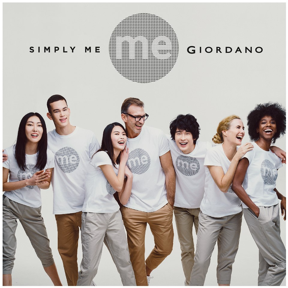 "Giordano's ""Simply Me"" collection brings the message to encourage people to keep faith and live for yourself"