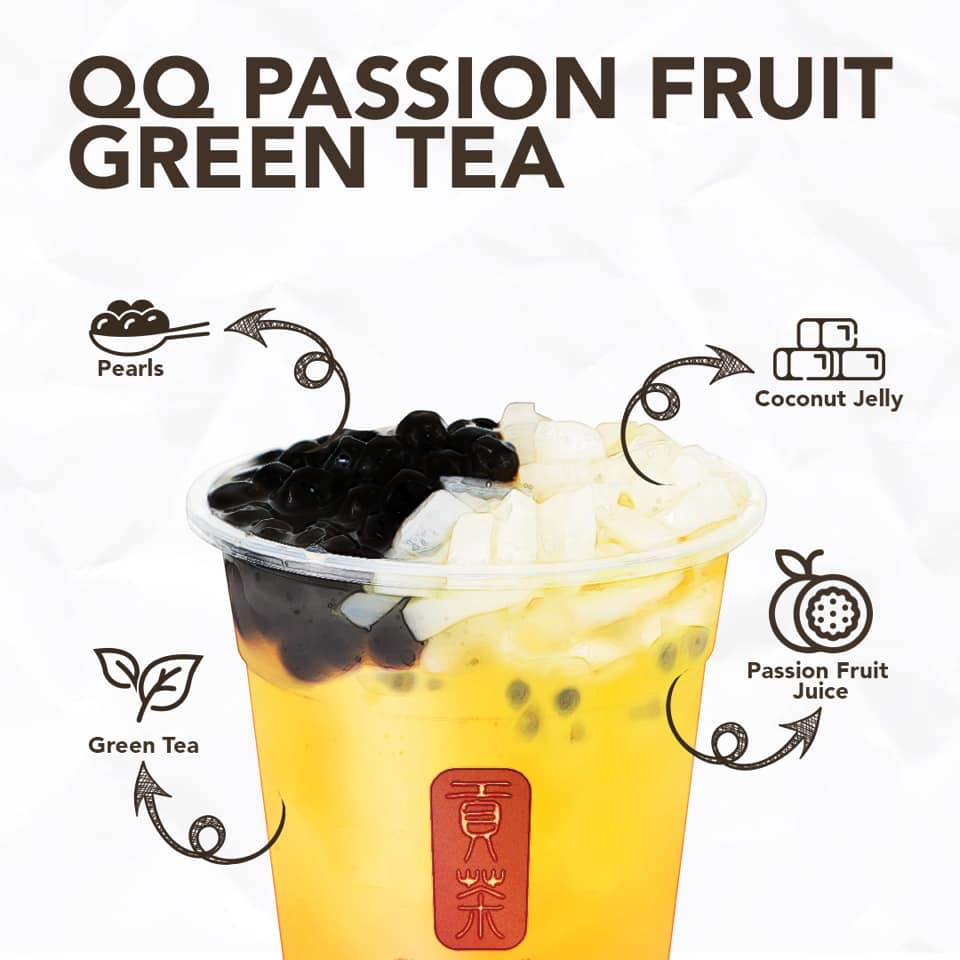 What does QQ means? In mandarin, it means chewy. This is what you get in this combo with Gong Cha - Malaysia's chewiest toppings - pearl and coconut jelly.