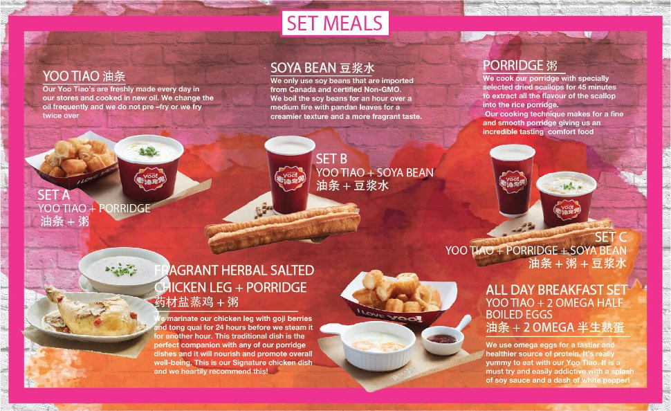 Available set meals