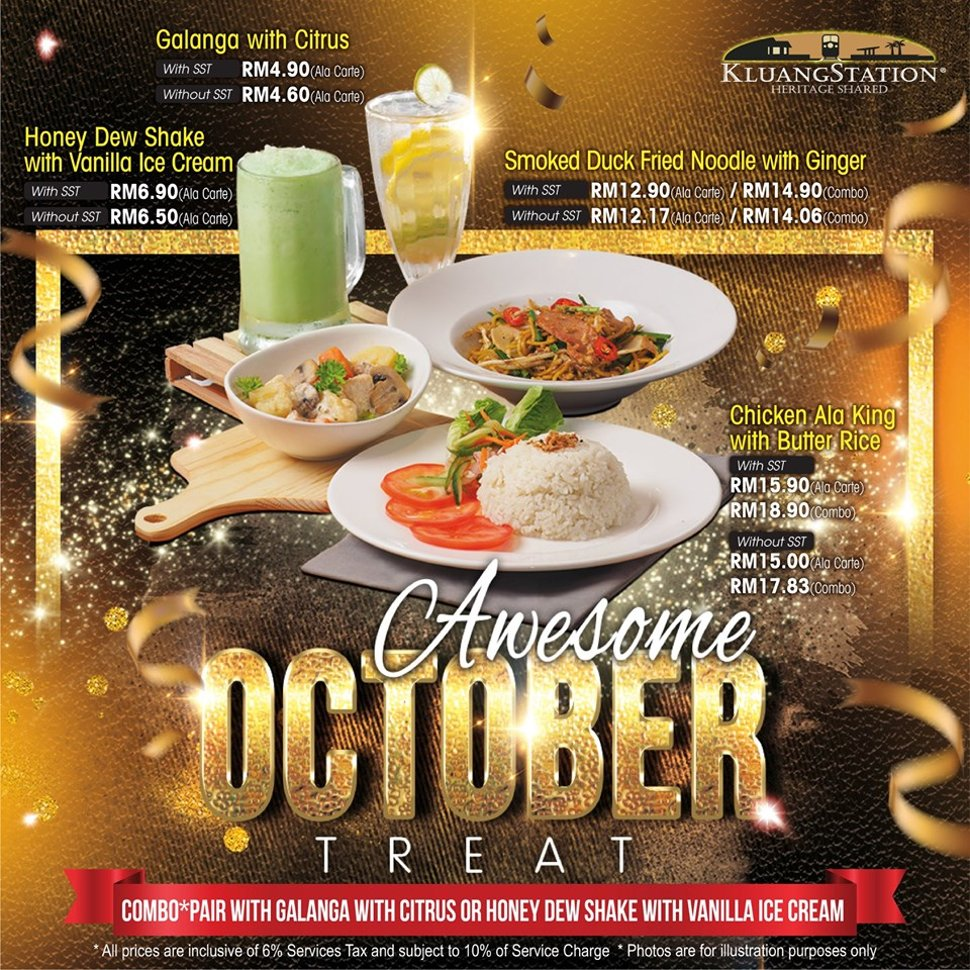 Kluang Station new October menu