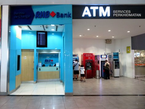 RHB Bank Currency Exchange at level 2 of Gateway@klia2 mall