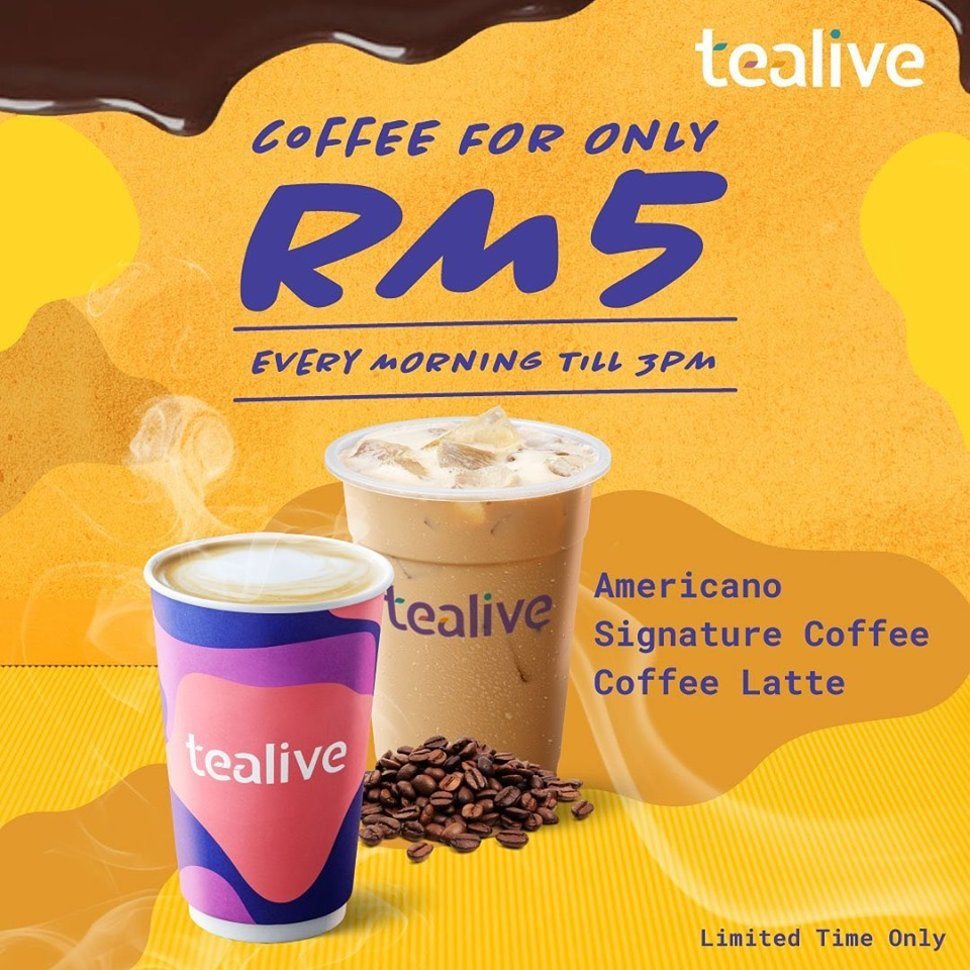 Tealive Coffee selections