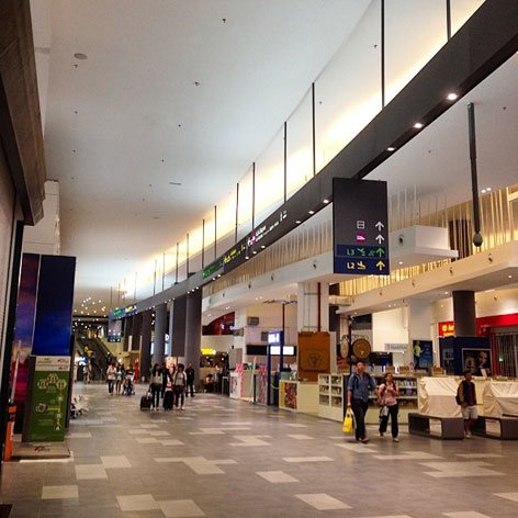 Retail outlets at level 2 of Gateway@klia2 mall