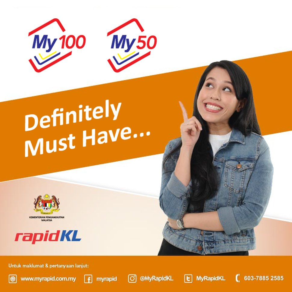 My100 My50 Unlimited Travel Pass For 30 Days Klia2 Info