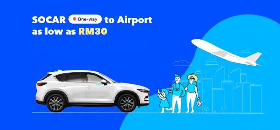 SOCAR lets you book a one-way trip to KLIA from as little as RM30