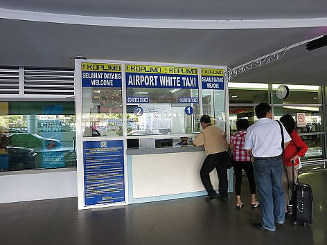 Taxi booking counters