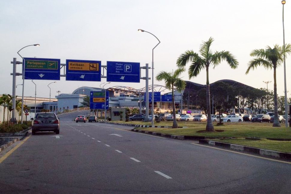 Road leading to the terminal