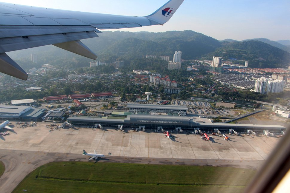 Aerial view of the Penang International Airport