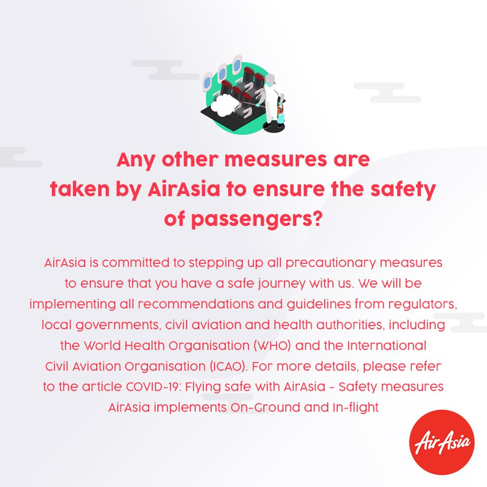 FAQ - Any other measures are taken by AirAsia to ensure the safety of the passengers?