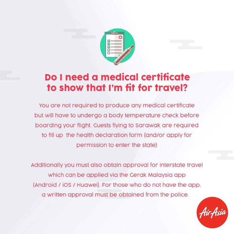 FAQ - Do I need a medical certificate to show that I'm fit for travel?