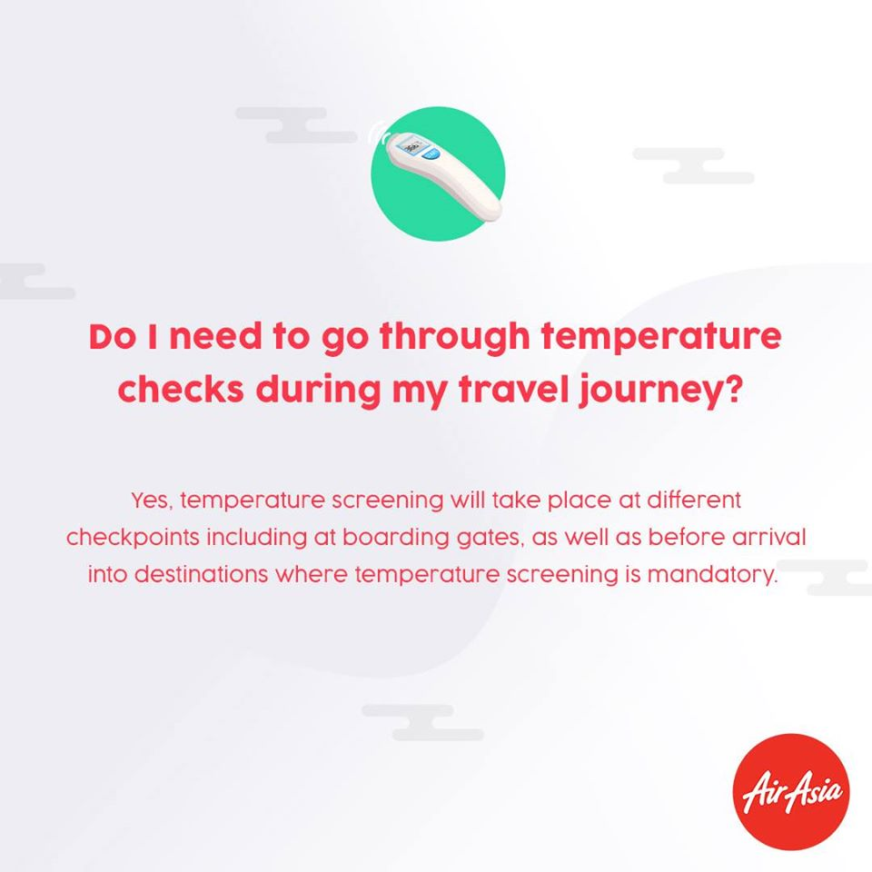 FAQ - Do I need to go through temperature check during my travel journey?