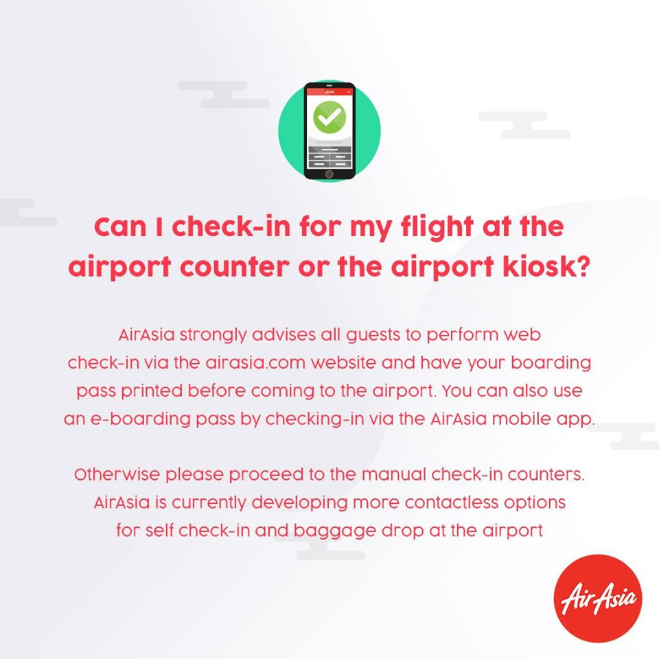 FAQ - Do I need to check-in my flight at the airport counter or the airport kiosk?