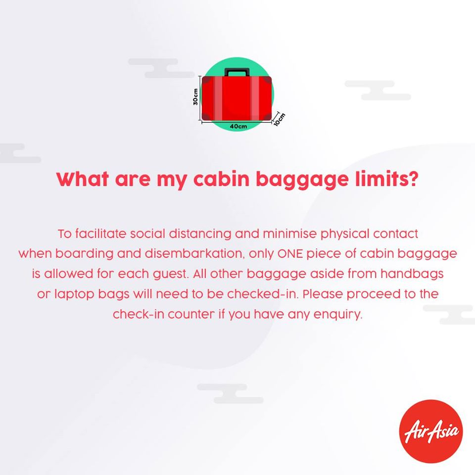 FAQ - What are my cabin baggage limits?