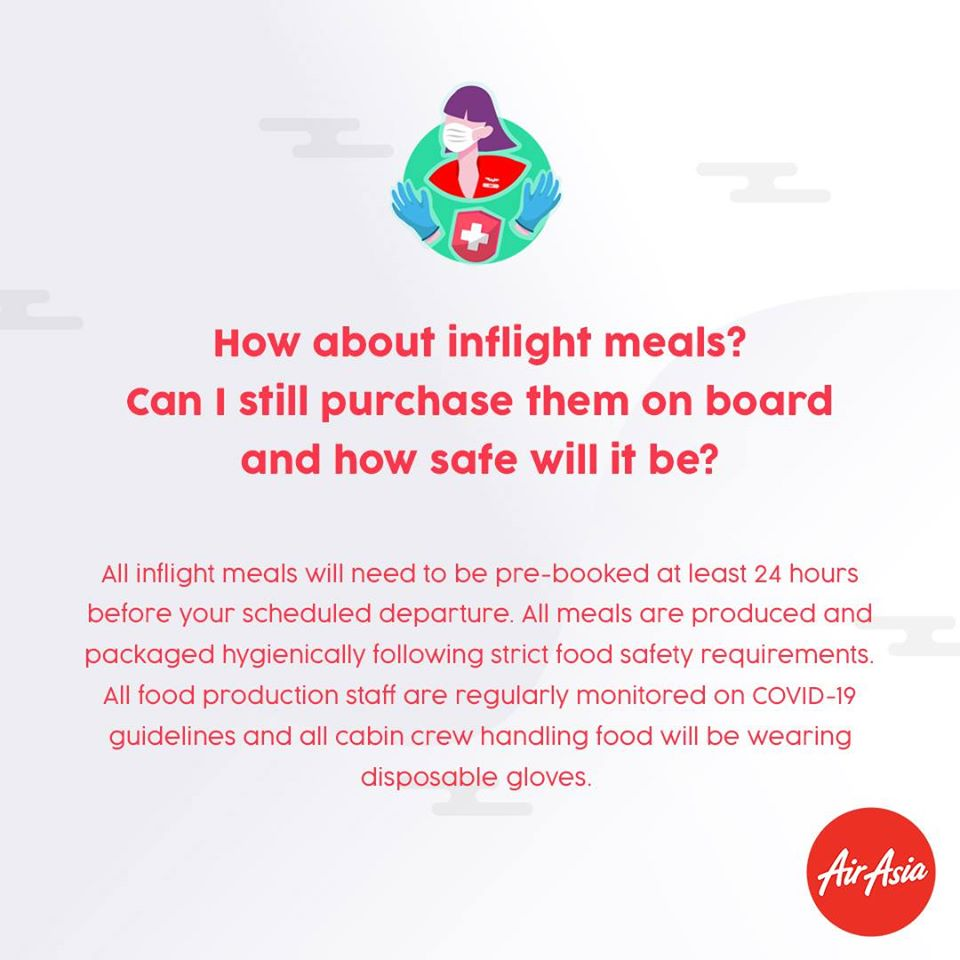 FAQ - What about inflight meals? Can I still purchase them onboard and how safe will it be?