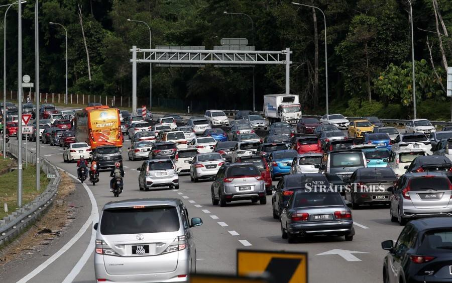A common scene on major highways during the Hari Raya Aidilfitri holidays as many make their way back to their respective hometowns.