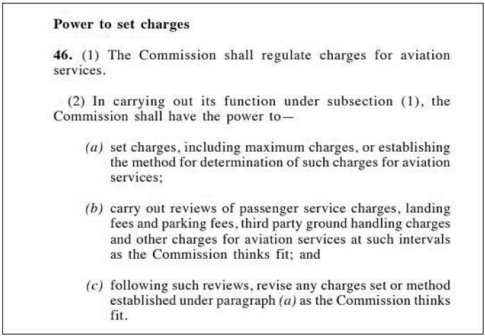 Section 46 of the Malaysian Aviation Commission Act 2015