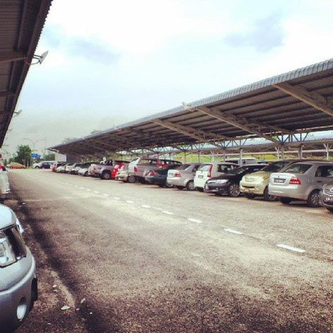 Open car park, Senai Airport