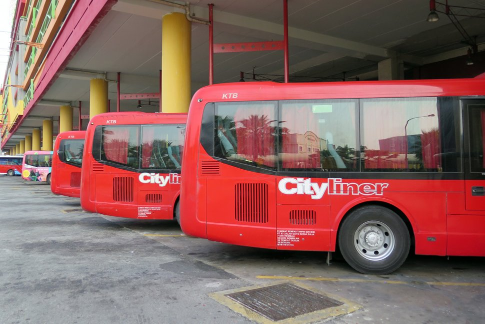 Cityliner buses at the terminal