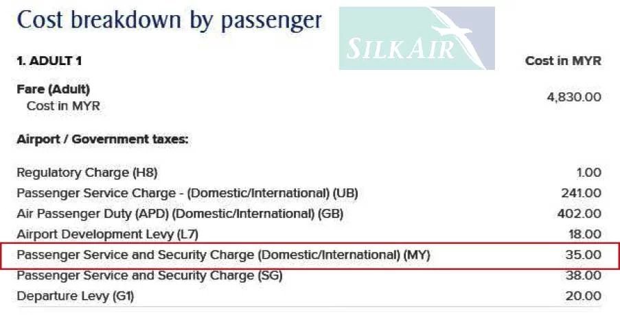 Silkair on PSC
