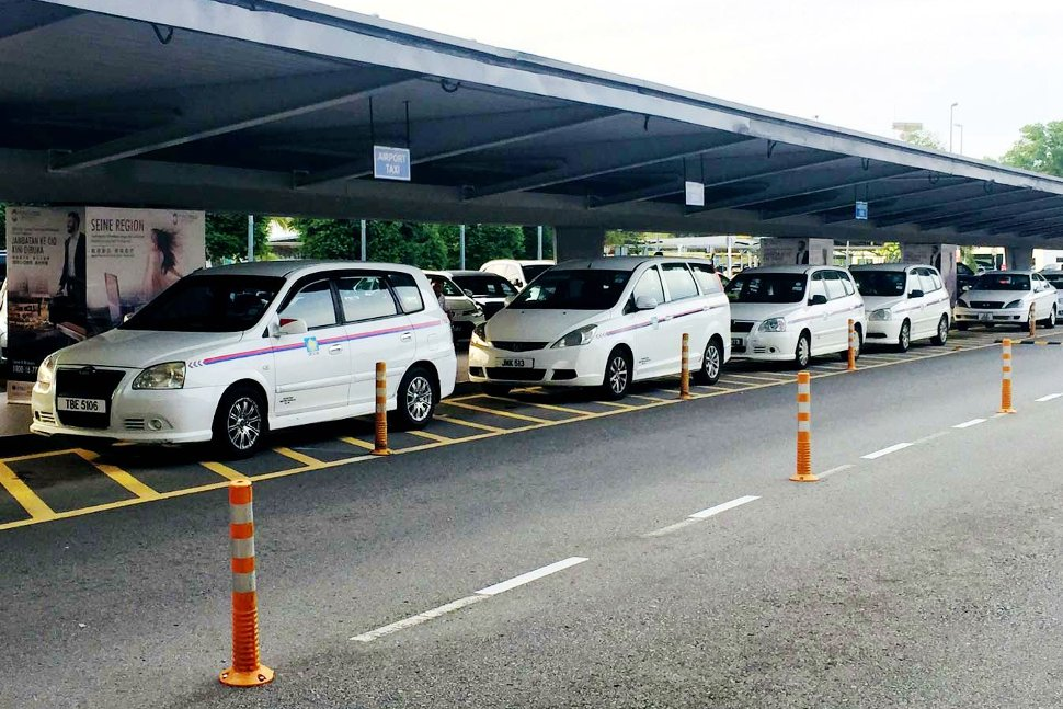 Taxis waiting at terminal